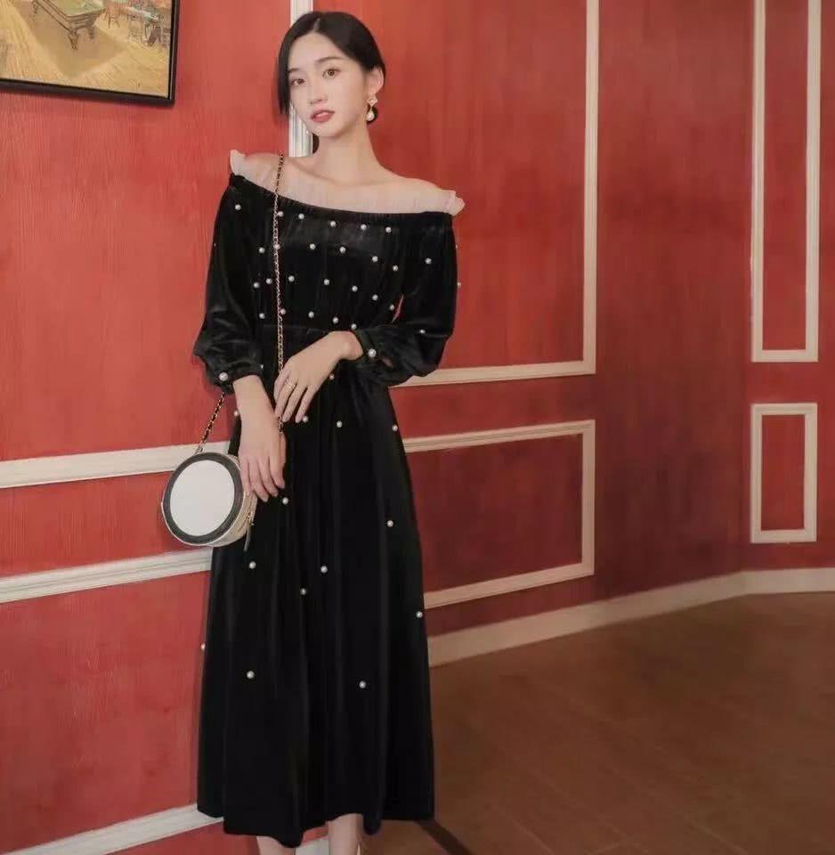 2019年秋天女孩穿这样的法式长裙,让你一秒穿出复古风